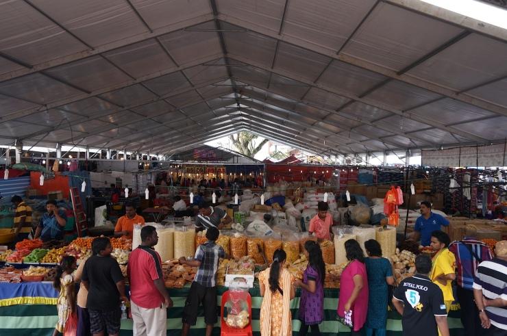 A massive food stall at the Batu Caves
