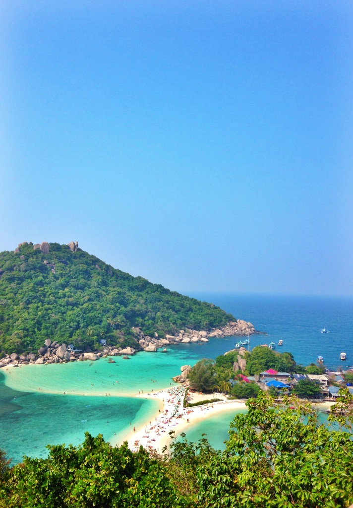Koh Nang Yuan from the look out.